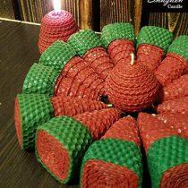 شمع تم یلدا و کریسمس ارتفاع ۸.۵ سانت کد : ۱۵