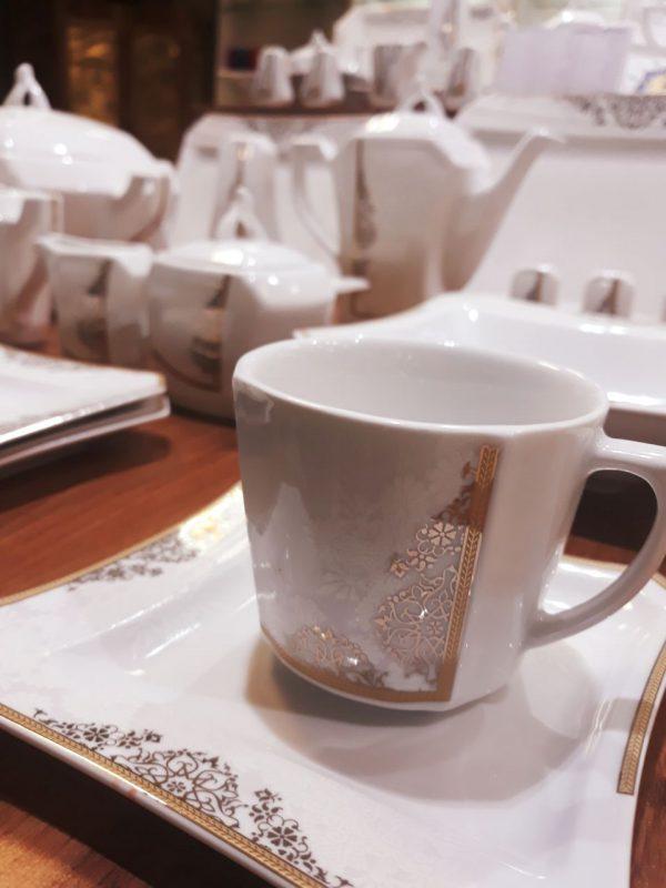 سرویس چینی 87 پارچه والس طلایی - قیمت ظروف چینی ارزان