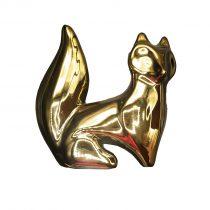 مجسمه روباه بزرگ طلایی نشسته