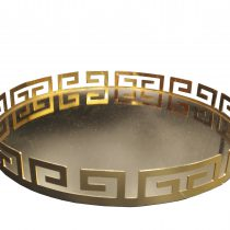 سینی آینه ای طرح ورساچه طلایی