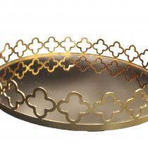سینی آینه ای طرح گشنیز طلایی