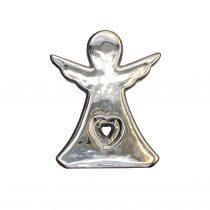 مجسمه فرشته قلب دار نقره ای 4121