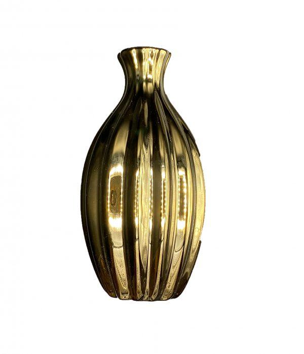 گلدان سرامیکی طلایی کد 107G