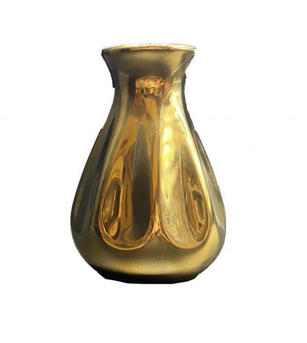 گلدان سرامیکی طلایی کد 112G