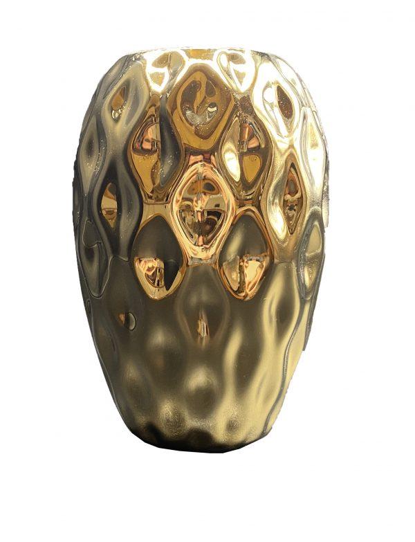 گلدان سرامیکی طلایی کد 119G
