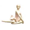 مجسمه چینی بالرین نشسته
